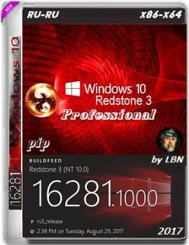 Windows 10 Pro 16281.1000 rs3 release x86-x64 RU-RU PIP