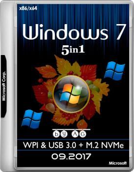 Windows 7 x64 x86 5in1 WPI & USB 3.0 + M.2 NVMe by AG 09.2017 Мультиязычная