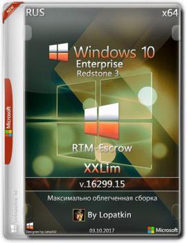 Windows 10 Enterprise RTM-Escrow 16299.15 rs3 x86-x64 RU-RU XXLim