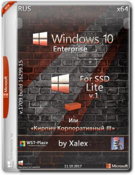 Windows 10 Enterprise x64 Lite 1709 (16299.15) for SSD v1 xlx(Кирпич Корпоративный 3)