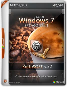 Сборка Windows 7 SP1 99 in 1 KottoSOFT (x86\x64) (Multi\Ru)