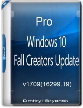Windows 10 Professional RS3 Dmitryi-Bryansk 1709 (16299.19)-64BIT