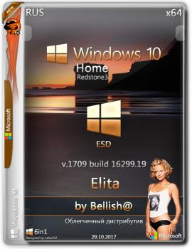 Windows 10 Home « Elita »Bellish@NT (16299.19) (x64) (Rus) [29/10/2017]