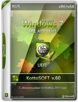 Сборка Windows 7 SP1 11 in 1 KottoSOFT (x86\x64)