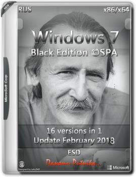 Windows 7 SP1 BLACK EDITION ©SPA (x86-x64)