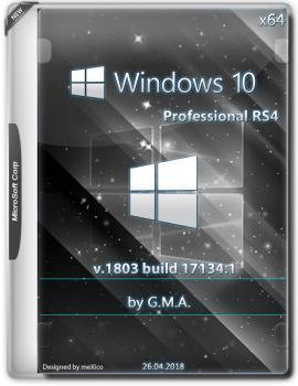 Windows 10 PRO RS4 x64 RUS G.M.A. v.26.04.18