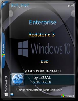 Windows 10 Enterprise RS3 v.1709 With Update (16299.431) x64 by IZUAL v18.05.18 (esd)