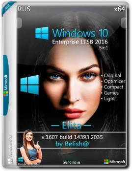 Windows 10 LTSB-2016 Elita Bellish@ [Ru-Ru].iso NT=(14393.2035) (x64)