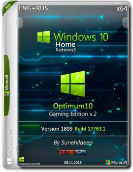 Windows 10 Home x64 RS5 Optimum10 Gaming v.2 By Sunehildeep