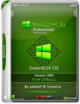Windows 10 Pro x64 1809 GreenBOX OS by aXeSwY & TomeCar