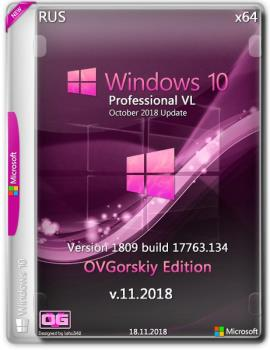 Windows 10 Professional VL 1809 RS5 RU by OVGorskiy 2DVD (x86-x64) (2018)