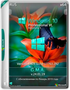 Windows 10 PRO VL RS5 x64 RUS G.M.A. v.24.01.19