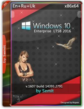 Windows 10 Enterprise LTSB 2016 by Semit [v19.0] (x64) (2019)