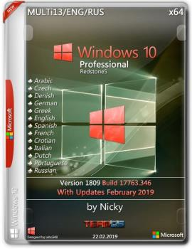 Windows 10 Pro x64 1809.17763.346 by Nicky