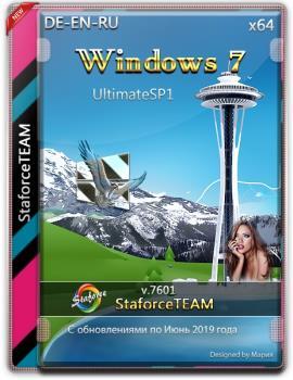 Windows 7 Build 7601 UltimateSP1 (RTM) StaforceTEAM DE-EN-RU (64-Bit)