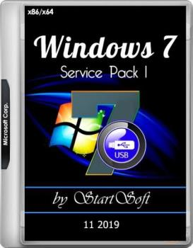 Windows 7 SP1 x86 x64 DVD-USB Release by StartSoft 10-11 2019