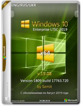 Windows 10 Enterprise LTSC 2019 x64 En+Ru+Uk v19.08