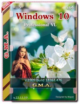 Windows 10 PRO VL 1909 G.M.A. v.22.11.19