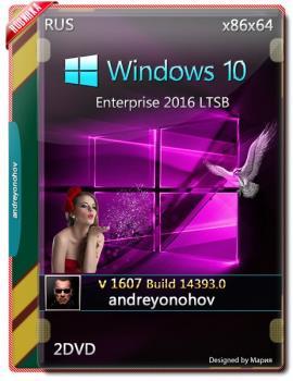 Windows 10 Enterprise 2016 LTSB 14393.0 Version 1607 2 DVD (x86-x64)