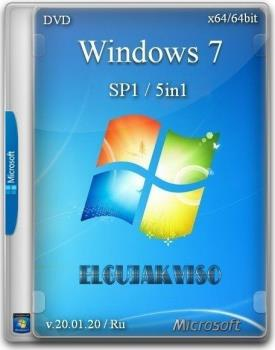 Windows 7 SP1 5in1 x64 Elgujakviso Edition v.20.01.20