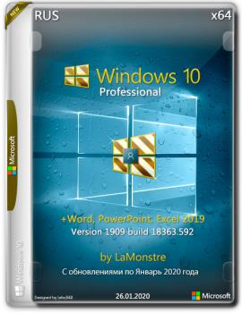 Windows 10 Pro 1909 x64 + (Word, PowerPoint, Excel 2019) by LaMonstre 26.01.2020 10.0.18363.592