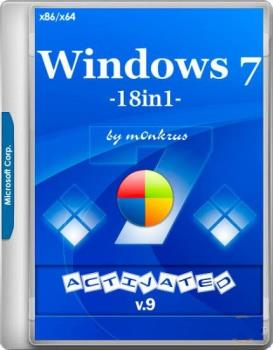 Windows 7 SP1 RUS-ENG x86-x64 -18in1- Activated v9 (AIO)