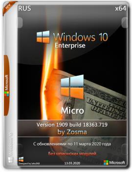 Windows 10 Enterprise x64 micro 1909 build 18363.719 by Zosma