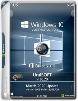 Windows 10.0.18363.720 Version 1909 (March 2020 Update) + Офис 2016 by Uralsoft