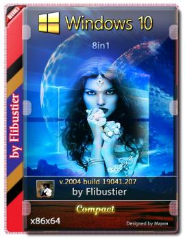 Windows 10 2004 Компакт [19041.207] (x86-x64) от Flibustier