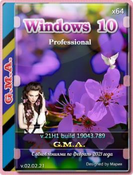 Windows 10 PRO 21H1 [GX 02.02.21] (x64) русская версия