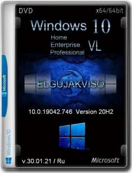 Windows 10 3 редакции в образе VL Elgujakviso Edition v.30.01.21 (x64)