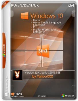 Windows 10 Version 21H1 x64 5in1 by YahooXXX (En/Ru/De/It/Uk/2021)